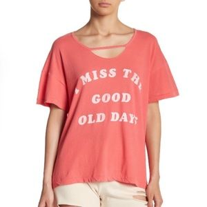 Wildfox I miss the good old days T shirt NWT